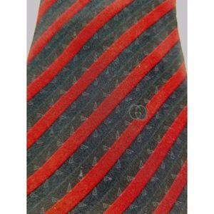 Gucci Necktie Made in Italy Striped Pattern Silk